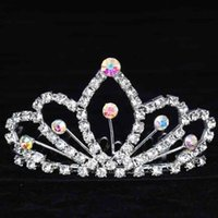 Cheap 2015 Korea Shining Crystal Wedding Crown Bridal Tiara Crowns Diomand Veil Headband Hair Accessories