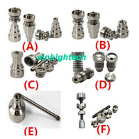 Wholesale Universal Infinity Domeless Titanium Nail mm mm Adjustable Male or Female Oil Gr2 domeless titanium nails