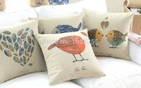 Wholesale Super quality Cotton Linen Pillow Case Cute Chick Hold Cushion Cover Waist Pillowcase patterns of DECORATIVE PILLOW quot