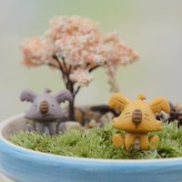 Wholesale Tiny Cartoon Koala Figurines Home Garden Bonsai Flower Pots Decoration Kid Gift DIY terrarium Micro Landscape christmas gift E385L