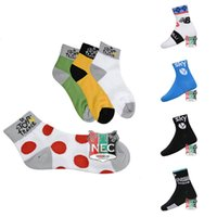 Wholesale 2 pairs Cycling Socks QUICK STEOP PHARMA bike CREW socks solar protection bicycles foot warmer for Tour of France