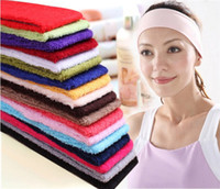 Wholesale Candy Colors Movement Yoga Dance Bodybuilding the Necessary Hair Hoop Scarf