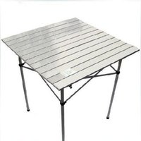 Wholesale Urltra Light Portable Folding Outdoor Picnic Table dining table Aluminium Alloy desktop steel holder High quality