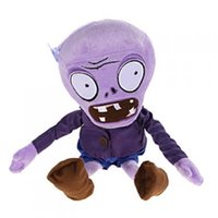 animaux en peluche zombie achat en gros de-Plants VS Zombies Peluche Stuffed Animal - Violet Zombie 28cm / 11inch Grand