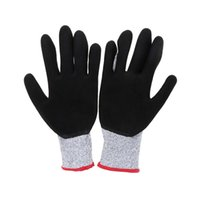 Wholesale 2Pcs Cut resistant Anti abrasion Working Protection Safety Gloves Stainless Steel Wire Nitrile Strong Black Safety Glloves