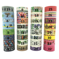 Wholesale 32 color Shredded and paper tape washi masking tape cartoons DIY tape optional favorite color
