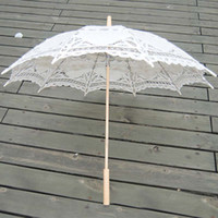 Wholesale White Lace Vintage Wedding Bridal Sun Umbrella Parasol Bridesmaid Wedding Party bridal parasols XNS003WT