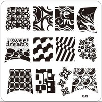 abstract art image - Abstract Flower Pattern Nail Art Stamp Stamping Image Plate Manicure Stencil X09