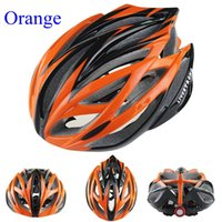orange red led - Livestrong Cycling Helmet with LED Taillight Visor Mountain MTB Bike Bicycle Accessories Yellow Green Blue Orange red silver Yellow