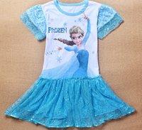best price sequin long dress - Best Price Summer Frozen Kids Baby Dress Long sleeve Elsa Princess sequins Tutu Skirt Cartoon Movie Printing Clothes ESY40