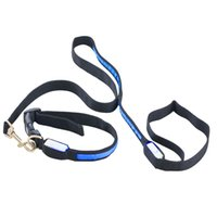 Wholesale For Pet LED Light up Dog Pet Night Safety Bright Flashing Adjustable Nylon Collar Leash