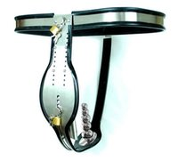 Cheap Male Stainless Steel Chastity Belt Best Sex Chastity Belt With Anal Plug