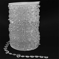 Wholesale New Romantic Meters Garland Diamond Strand Acrylic Window Crystal Bead Curtain Wedding DIY Decor Scarf