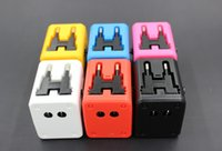 Wholesale Global Universal Travel Adapter Plug Multi Purpose Socket High Quality Global Power Plug Adapter With USB Colors AC UK EU US AU UP