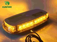 amber traffic light - Waterproof Car LED strobe light car flashlight car traffic light high quality car LED Light with magnet KF L3136