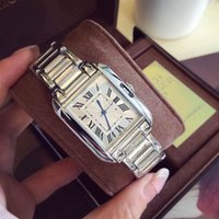 acrylic tank - Hot Tank Watches Luxury Brand Women Watches Fashion High Quality Lady Tank Watches Quartz Silver Steel Relogio Feminino
