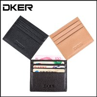 Card Holders business card case - Genuine Leather Vintage Womens Men Pouch ID Credit Card Wallet Cash Holder Organizer Case Box D2035