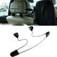 Wholesale L109Stainless Steel Car Auto Seat Headrest Coat Hanger Clothes Jackets Suits Holder