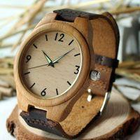 antique japanese jewelry - japanese quartz fluorescence analog wooden bamboo watches men luxury brand bracelet wedding jewelry set bamboo wood men wristwatch