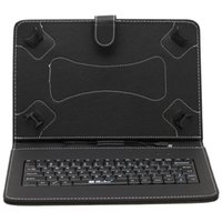 10'' accessory bundle - IRULU Inch Mirco USB Keyboard Case PU Leather Foldable Foding with kickstand Stand Cover Cases for Inch Tablet PC