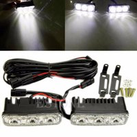 Wholesale x Super Bright LED Daylight Running Light Daytime Driving Light DRL White