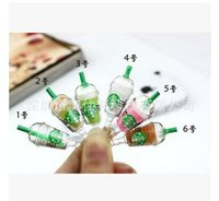 Wholesale Cell Phones Plug Starbucks MM Universal Dust Plug Earphone Jack Plug Headset Stopper Cap For all cell phone Dhgate plug R1619