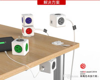 Wholesale Smart Home Allocacoc Extended PowerCube Socket US DE Plug Outlets USB Ports Adapter with m Cable Power Strip