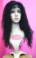wigs and hair pieces - Good Looking Peruvian Human Hair Wigs Kinky Curly Lace Front Wigs And Hair Pieces Color1B Human Hair