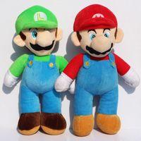mario plush - Super Mario Bros Plush Toy Stand LUIGI Mario Plush Doll Stuffed Toys inch