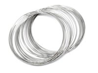 Wholesale 100 Loops Silver Tone Memory Beading Wire for Bracelet mm mm Dia Q257