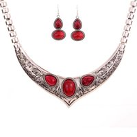 beaded wings - New Silver Wing Multicolor Turquoise Chain Stud Earrings Pendant Necklace Jewelry Set