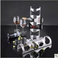 Wholesale Stainless steel wall mounted wine rack creative European wine rack wine holder wine at the end of Specials