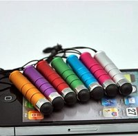 Wholesale Mini Universal Capacitive Stylus Touch Screen Pen for iPhone plus s for iPad Mobile Cell Phone Tablet