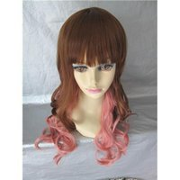 Wholesale Body Wave Synthetic Hair Wig Ombre Color Long Cosplay Wig Fashion Yourself Hot Sale