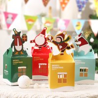Wholesale 2015 New Christmas apple box wedding candy box Multicolor Cartoon animals Fold gift box favor boxes