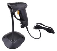Wholesale USB Cable Laser Handheld Barcode Scanners Barcode Readers For POS In Grey And Yellow Color With Stander