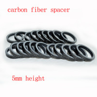 bicycle parts lot - 100pcs full carbon fiber bicycle headset spacer bike cycling parts frame fork round spacers washer mm glossy