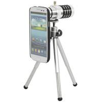 achat en gros de zoom téléphone s3-Pour Samsung Galaxy S3 Zoom optique 12x Objectif de caméra Télescope + Mini Trépied + Retour Housse de téléphone 12X Objectif Zoom
