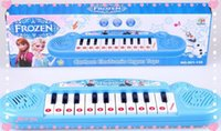 al por mayor musical toy organ-Musical juguete instrumentos Muchacha congelada Cartoon teclado juguete órgano electrónico piano de media cola electrónica con música 8 canción Juguete educativo
