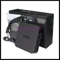 Wholesale Quad Core MXQ Android Media Player Smart TV Box Amlogic S805 MXQ IPTV TV Box With XBMC KODI Update TV Box