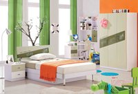 bedroom wardrobes sale - Mediterranean style Hot sale Children Bedroom Furniture bed desk wardrobe and bookshelf set girls and boys furniture