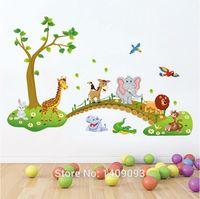 baby stills - DIY Children Baby Wall Sticker New Design Cartoon Bridge Animal Tree Wall Decals Vinyl Sticker For Kids Room Decoration