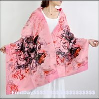 air brush ink - P ink flowers cashmere imitation digital printing thick Dress Fashion Scarf Shawl brushed warm air conditioner