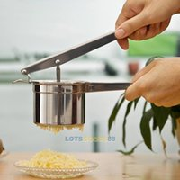 Wholesale LS4G Stainless Steel Manual Juicer Potato Masher Ricer Fruit Juice Presser