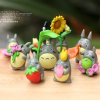 Wholesale 9pcs artificial cartoon totoro dolls toy fairy garden miniatures gnome moss terrarium decor resin crafts bonsai home decor for DIY Zakka