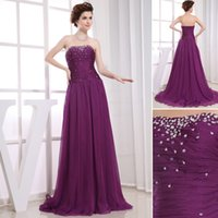 advanced world - Advanced Customization Stunning Strapless Beaded And Sequins Plus Size Purple Evening Dresses On The World s Largest Fashion Site