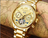 Wholesale USA style Automatic mechanical gold watch for men new day week month steel clock charm luxury mens designer gift wrist watches name brand
