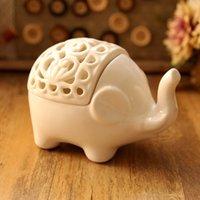 porcelain - New design minimalist porcelain elephant figurine soap dish jewelry dish attractive decoration