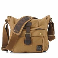Wholesale Pupular Women Men s Canvas Leather Bag Casual Style Messenger Bags Shoulder Bags For Travel Bags Fashion Laptop Rucksack