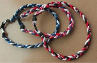 red and white rope - Red Black and White ropes tornado sports titanium necklace braided necklace bracelet